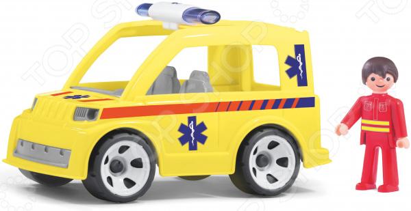 Машинка игровая EFKO «Машина скорой помощи и водитель»
