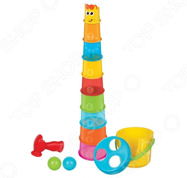 Игрушка-пирамидка B kids «Жираф»