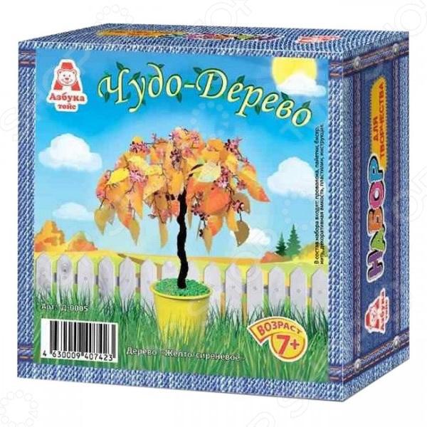 Набор для детского творчества Азбука тойс «Чудо-дерево: Желто-сиреневое»