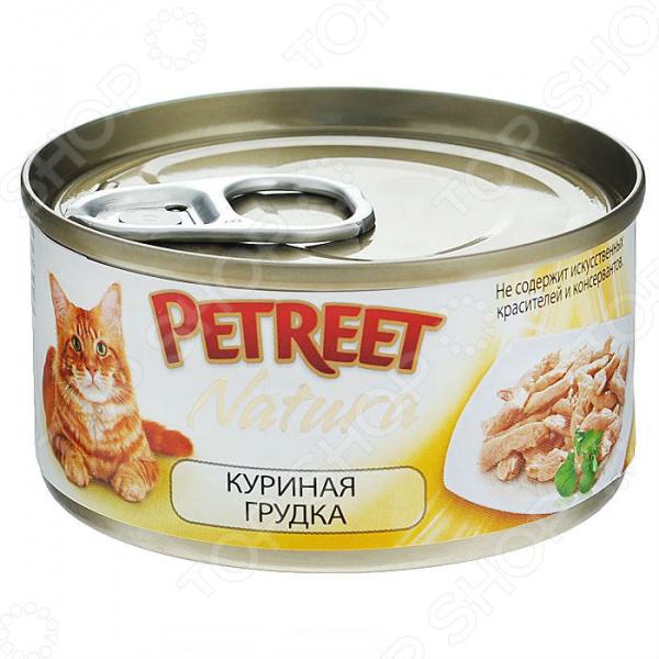 Корм консервированный для кошек Petreet Natura Sfilaccetti Di Pollo корм флатазор купить в ульяновске