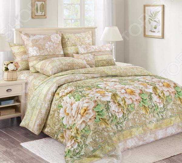 цена Комплект постельного белья Королевское Искушение «Анжелика». Тип ткани: сатин онлайн в 2017 году