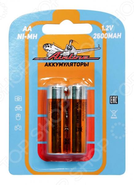 Набор батареек аккумуляторных Airline HR6 набор батареек щелочных airline ag12 lr43