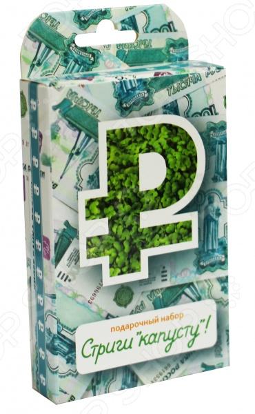 Набор подарочный для выращивания Happy Plant «Живая открытка: Стриги капусту» наборы для выращивания растений вырасти дерево набор для выращивания ель канадская голубая