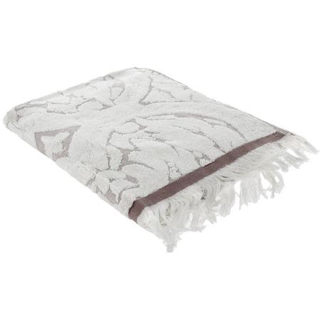 Купить Полотенце махровое Guten Morgen «Лакшми». Цвет: серый, молочный