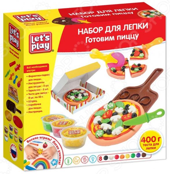 Набор для лепки из теста Let's Play «Готовим пиццу» набор для лепки lets cook готовим сахарных мышек 38353