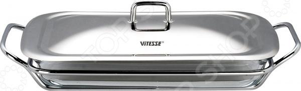 Жаровня Vitesse Beth подставка для микроволновой печи ругес плюстарелка цвет оранжевый белый