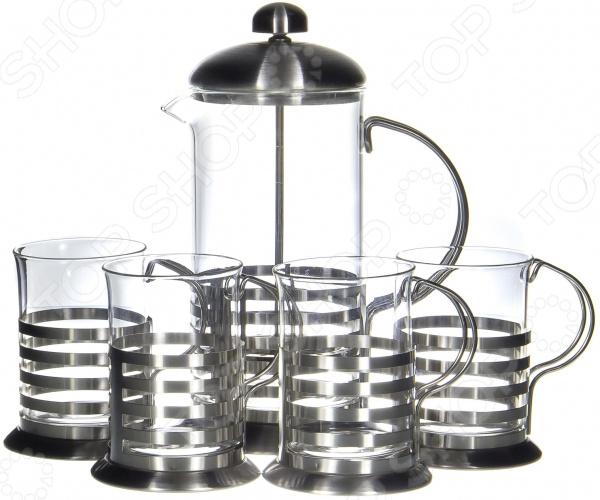 Френч-пресс с набором чашек Guterwahl YM-S4-009/600 набор кофейный guterwahl 3 предмета ym s2 014 600