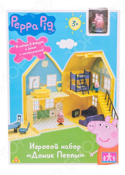 Игровой набор с фигуркой Peppa Pig «Домик Пеппы» игровой набор peppa pig семья пеппы папа свин и джорж 2 предмета от 3 лет 20837