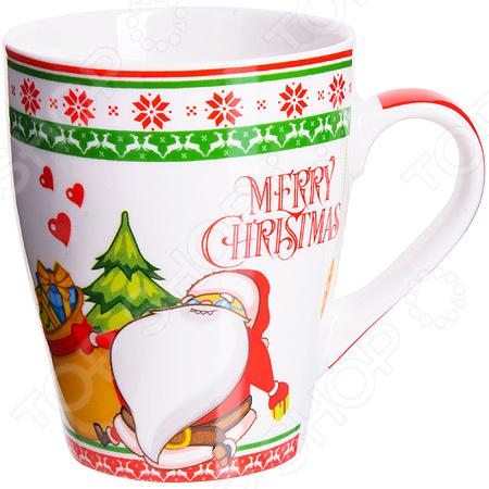 Кружка Loraine Merry Christmas LR-28466 кружка loraine merry christmas 340 мл