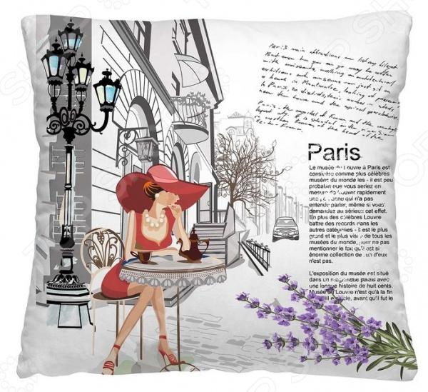 Подушка декоративная Волшебная ночь «Кафе в Париже»