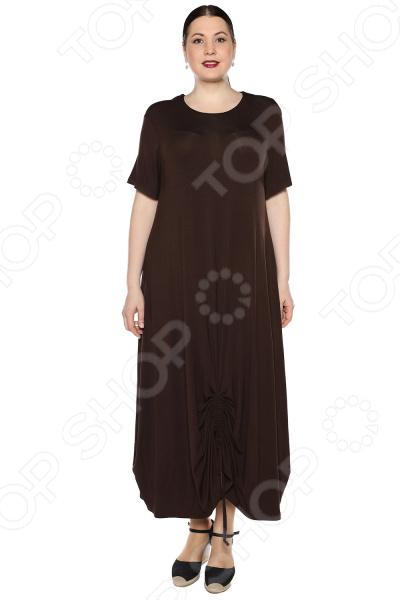 Платье Kidonly «Романтичный день». Цвет: коричневый