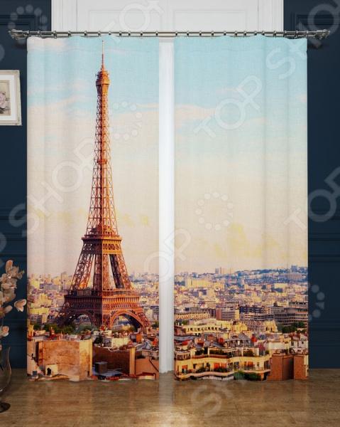 Фотошторы Сирень «Просыпающийся Париж»