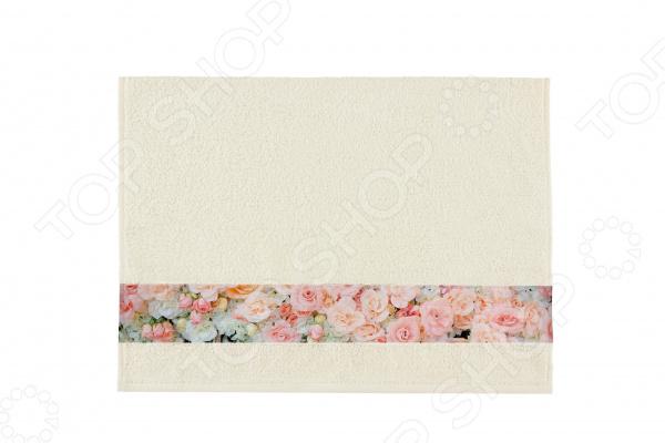 Полотенце махровое Aquarelle «Фотобордюр: Цветы 4»