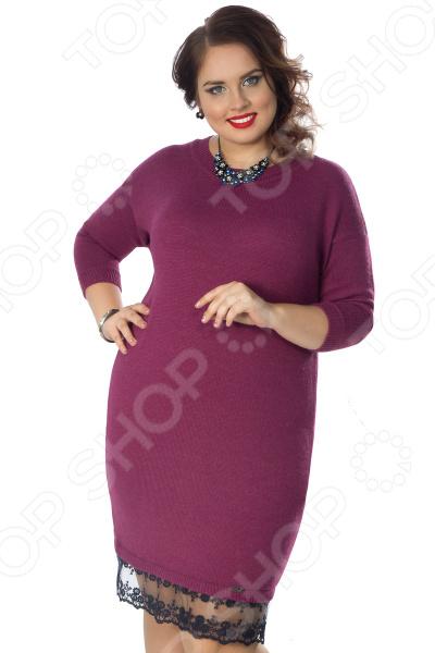Платье Wisell «Нежное очарование». Цвет: фиолетовый