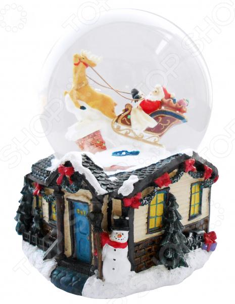 Zakazat.ru: Снежный шар музыкальный Crystal Deco «Санта в санях с оленями»