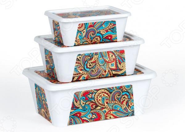 Набор контейнеров для продуктов Полимербыт SGHPBKP75 «Пейсли»