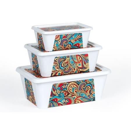 Купить Набор контейнеров для продуктов Полимербыт SGHPBKP75 «Пейсли»