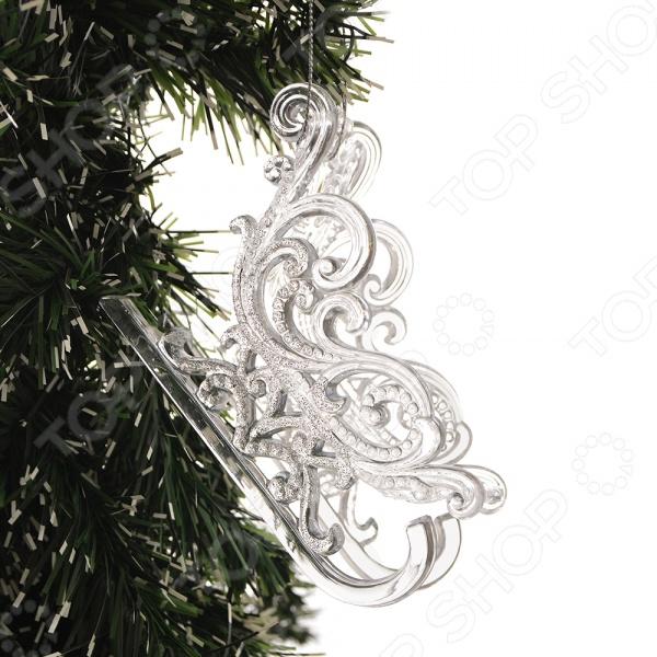 Елочное украшение Crystal Deco «Сани». В ассортименте новогоднее украшение crystal deco шар в ассортименте