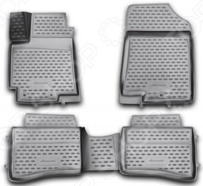 Комплект 3D ковриков в салон автомобиля Novline-Autofamily KIA Rio 2011-2014 / 2014 комплект ковриков в салон автомобиля novline autofamily toyota camry 2011 2014 2014