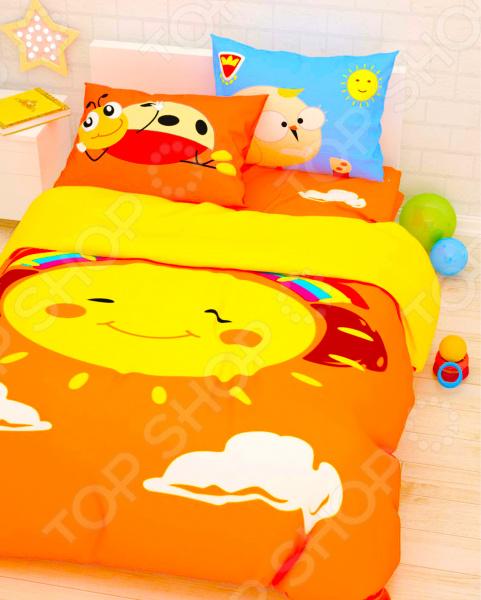 Детский комплект постельного белья Сирень «Веселое солнце»