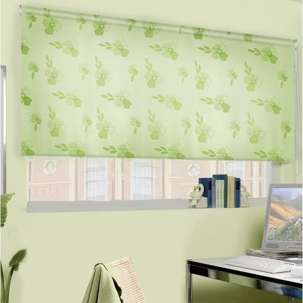 фото Рулонная штора Эскар «Эдельвейс». Цвет: зеленый