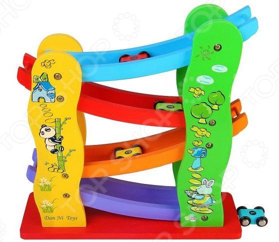 Игровой набор с машинками Наша Игрушка «Трек. Виражи» развивающая игрушка playgo трек с машинками play 2266