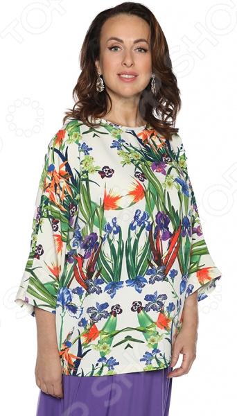Блузка El Fa Mei «Высокая идея». Цвет: мультиколор
