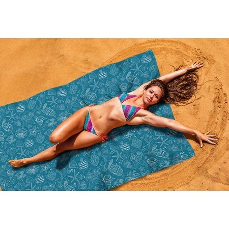 Купить Покрывало пляжное Сирень «Подводные животные»