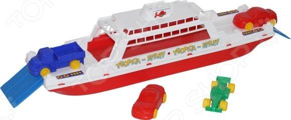 Набор игровой для мальчика Полесье «Паром Балтик с машинками» игрушки для ванны полесье паром балтик автомобиль мини 4 шт