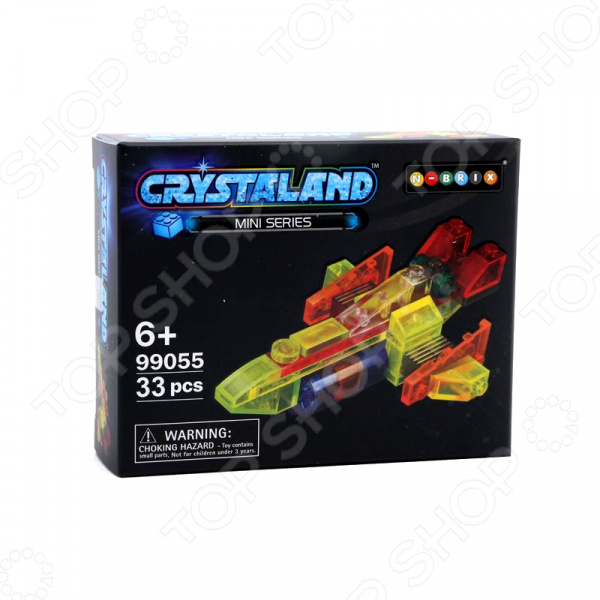 Конструктор для мальчика N-BRIX Crystaland «Грузовой Корабль» crystaland конструктор истребитель 6 в 1
