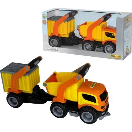 Купить Машинка игрушечная Wader «ГрипТрак самосвал с полуприцепом»