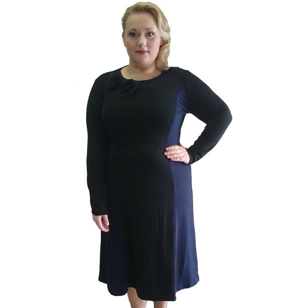 фото Платье Матекс Актриса. Цвет: черный, синий. Размер одежды: 56
