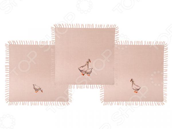 Набор салфеток для сервировки Santalino «Гуси» 850-546-90 сидушка на стул santalino райский сад 850 818 5