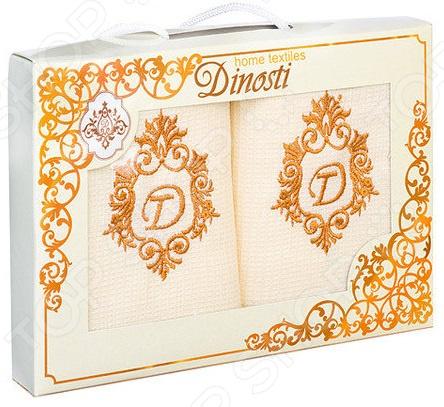 Комплект из 2-х кухонных полотенец Dinosti «Вензель» комплект из 3 х кухонных полотенец dinosti розовые хрюшки