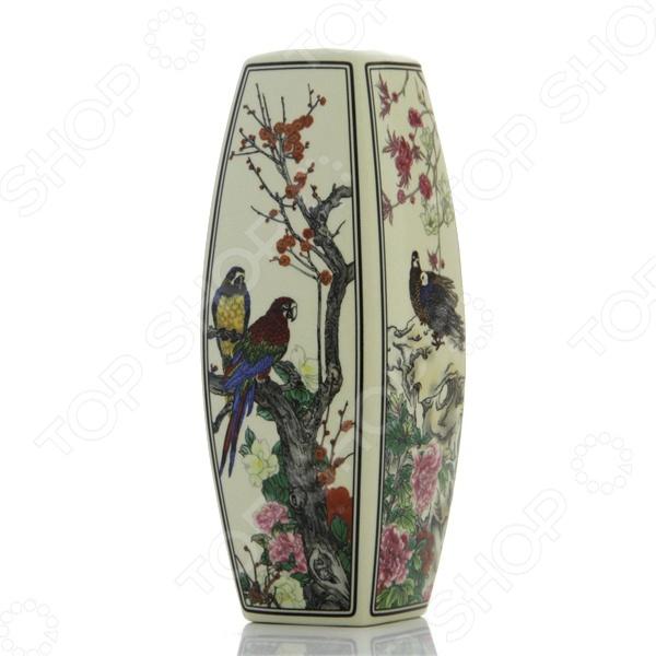 Ваза Elan Gallery «Птицы в цветах» 501911 вазы elan gallery ваза павлин в райском саду