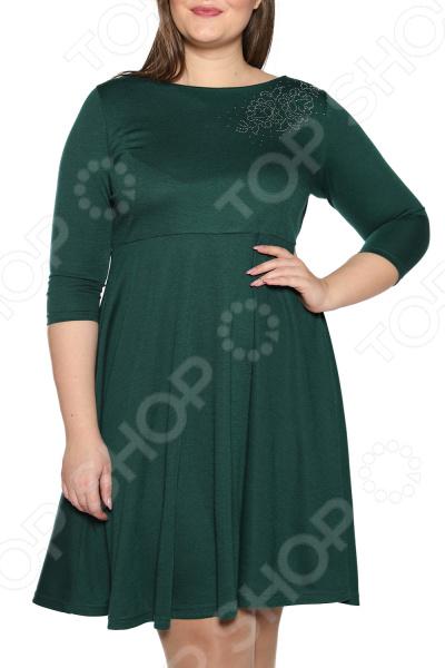 Платье ТРЕНД «Самая обаятельная». Цвет: зеленый платье тренд стильный силуэт цвет бордовый