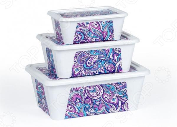 Набор контейнеров для продуктов Полимербыт SGHPBKP77 «Пейсли»