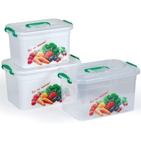 Купить Набор контейнеров для шашлыка Полимербыт SGHPBKP17 «Все на пикник»