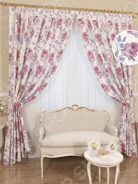 Комплект штор Сирень «Либрия» комплект штор с покрывалом для спальни в москве