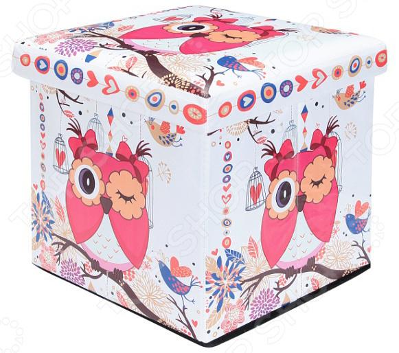 Пуф складной с ящиком для хранения EL Casa «Забавная сова» EL Casa - артикул: 1304625
