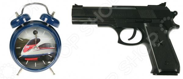 Часы-будильник с пистолетом «Меткое пробуждение» 232410