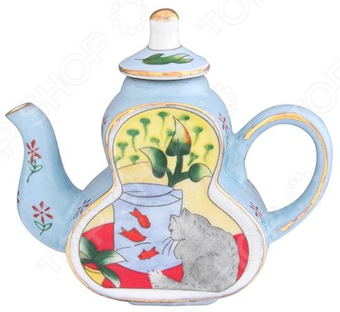 Чайник сувенирный Elan Gallery «Кот у аквариума» Elan Gallery - артикул: 967573