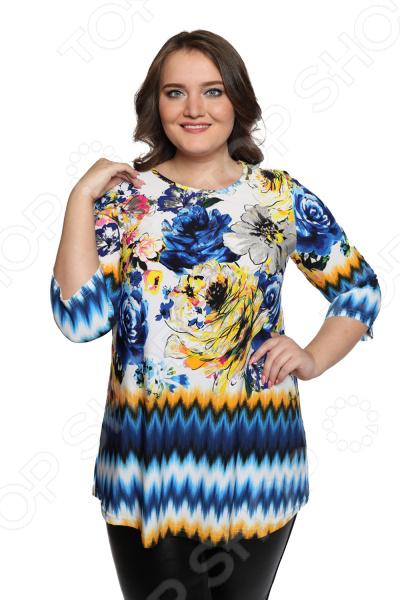 Блуза Лауме-Лайн «Шикарный букет». Цвет: желтый