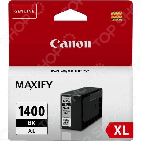 Картридж струйный Canon PGI-1400XLBK принтер струйный canon maxify ib4140