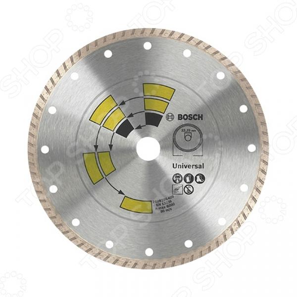 Диск отрезной алмазный Bosch Universal Turbo диск алмазный bosch 150х22 2мм standard for universal turbo 2 608 602 395