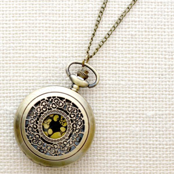 Кулон-часы Mitya Veselkov «Кучевые облака с золотом»