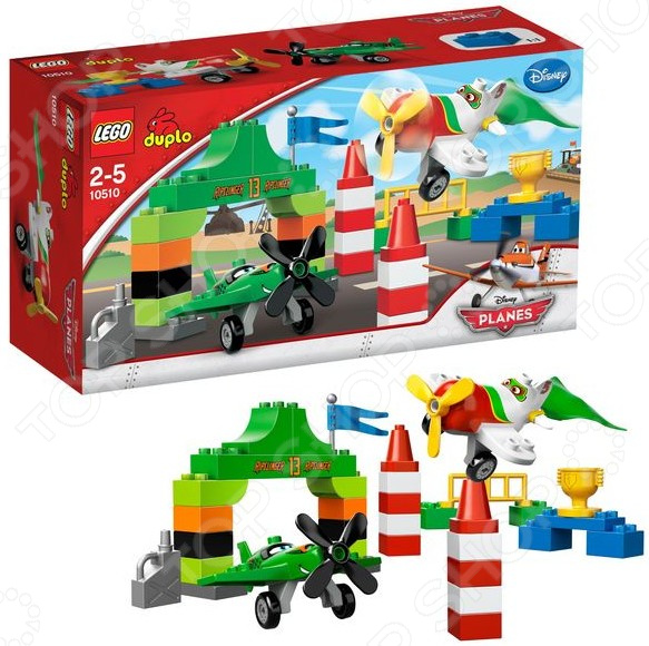 Конструктор LEGO Самолеты. Воздушная гонка Рипслингера это отличный конструктор для детей, в котором найдутся все необходимые детали для создания моделей с картинки. Большие детали подойдут для детей старше двух лет, они отлично различимы для ребенка и он точно поймет что с ними необходимо делать. Конструкторы такого типа развивают пространственное и логическое мышление, фантазию, творческие способности и мелкую моторику рук. Веселые персонажи, которые ребенок соберет сам долго будут радовать его.
