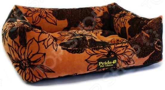 Лежак для домашних животных Pride «Флора». Цвет: коралловый