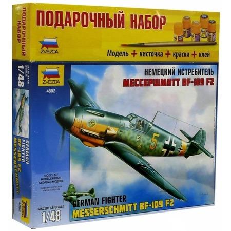 Купить Подарочный набор сборной модели самолета Звезда «Мессершмитт» BF-109/F2