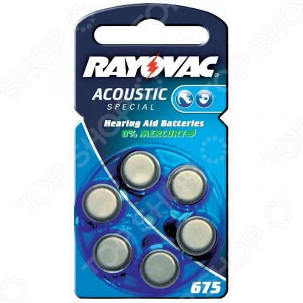 Батарейки для слуховых аппаратов Rayovac Acoustic Speсial Type 675 Hearing Aid dimarzio acoustic model for acoustic guitar and bass black